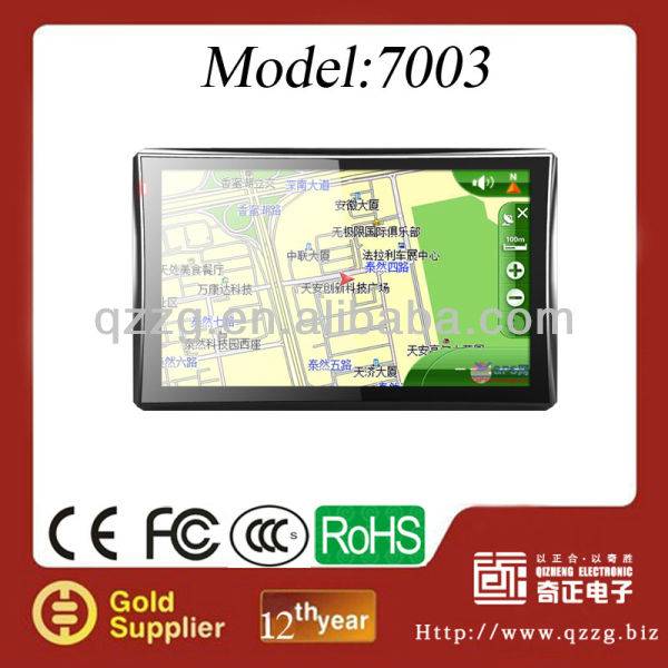 7 inch HD car gps navigation with optional TV/Bluetooth/AV-IN
