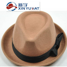 elegant cheap fashion ladies winter wool fedora hat for sale
