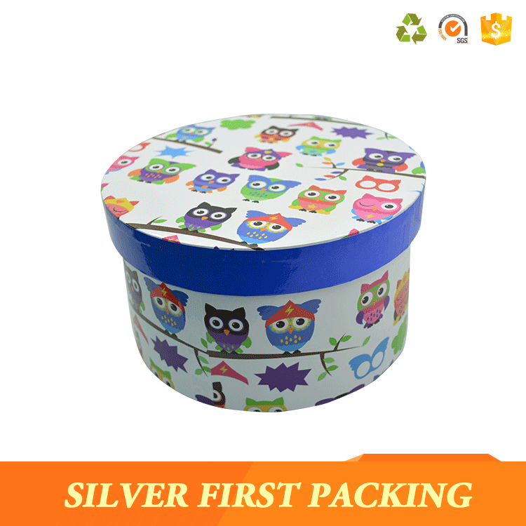 Charming Package Round Tin Box In Cake Box Design
