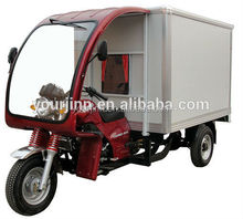 chinese cargo tricycle with van and roof