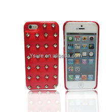 2013 Fashion Design unique Phone Cover case for iphone 5 with rivet and diamond