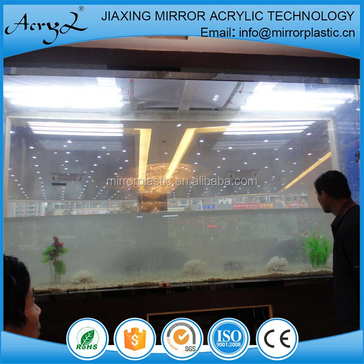 Acrylic square fish tank for restaurant