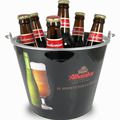 5QT custom galvanized metal ice bucket for beer/wine/can