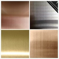 decorative color metal 304 hairline gold stainless steel sheet