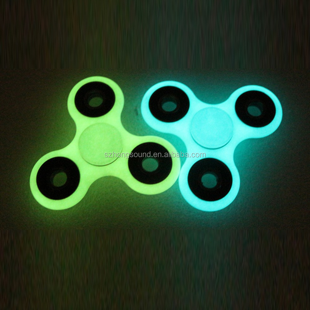 The popular tri fidget light spinner toy with glow in the dark light hand spinner