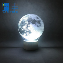 Creative Led Moon Baby Night Visualization Acrylic Light 3d