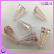 China Wholesale Cone Shaped Clear Crystal Beads In Bulk For Dress