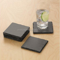 3pcs of gift set square shape nature stone coaster for decorating your coffee table and bar