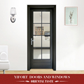 modern fashion aluminium bathroom double swing glass doors