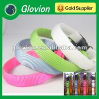 Nylon LED Colorful dog collar Safety lighted dog collar and leash Silicon Rubber battery case dog collars and leads