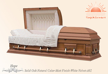 TD-A02 solid wooden timber casket & coffin from China home supplier with a low price