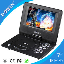 Caliente porducts te negro dvd portatil/evd player con usb/sd/game/av/fm baratos guitarras de vídeo usb Juego sd tv 3d smart monitor de vídeo
