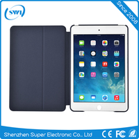 COMMA 2016 Dark Blue Stand Flip PU Leather Case Smart Cover for iPad Mini 4 / iPad Air 1 2