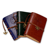 OEM personalized a5 pu leather notebook cover vintage leather notebook