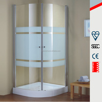 Frameless 2 frosted glass shower bathroom door F012