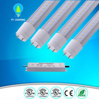 High power 72w Led tube light T8 1.2m 8000lm (one driver runs 4 tubes) Dimmable is available