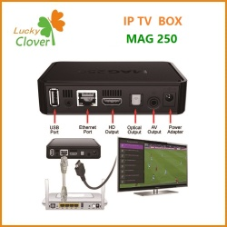 Original MAG 250 New Faster Processor linux iptv set top box MAG250 from Lucky clover
