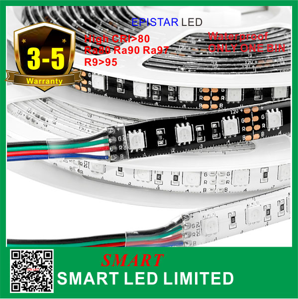 5 years warranty ,DC12v/24v flexible led strip lights 5050 <strong>RGB</strong> 60leds/m ,IP43/65/66/68.