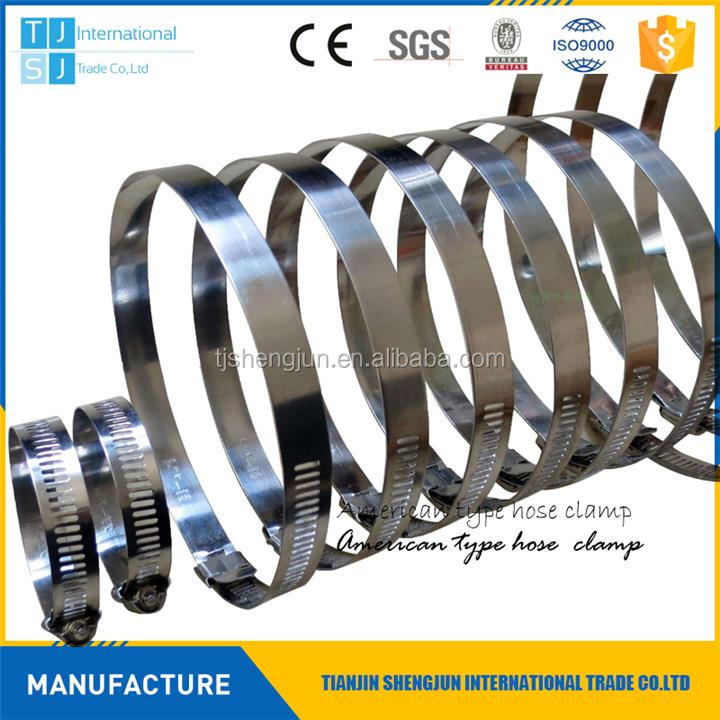 Hot selling american type stainless steel band clamp hose clamp pipe clamp with low price