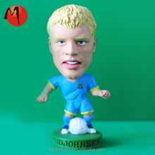 realistic 3d pvc plastic football player polyresin figurine for sale