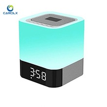 LED Night Light Alarm Bedside Table Touch Lamps Bluetooth Computer Speaker
