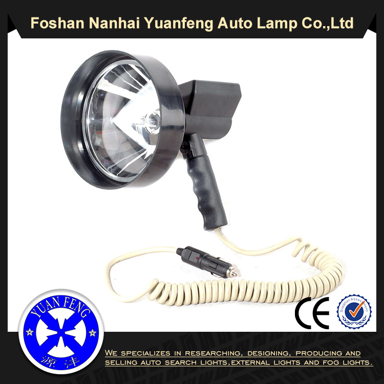 7 inch 175mm 35w/55w/70w/100w halogen portable hunting spot light with 12v cigar lighter ABS alloy handheld lamp