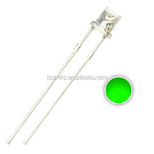 free samples Green Wide Angle emitting Led diode 3mm Flat top through hole led