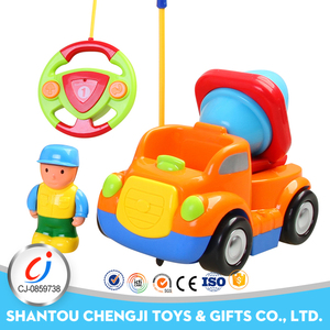 Cartoon baby engineering mini remote control car racing car with light and music