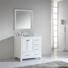 Hand Made Curving Solid Wood Bathroom Furniture with Mirror