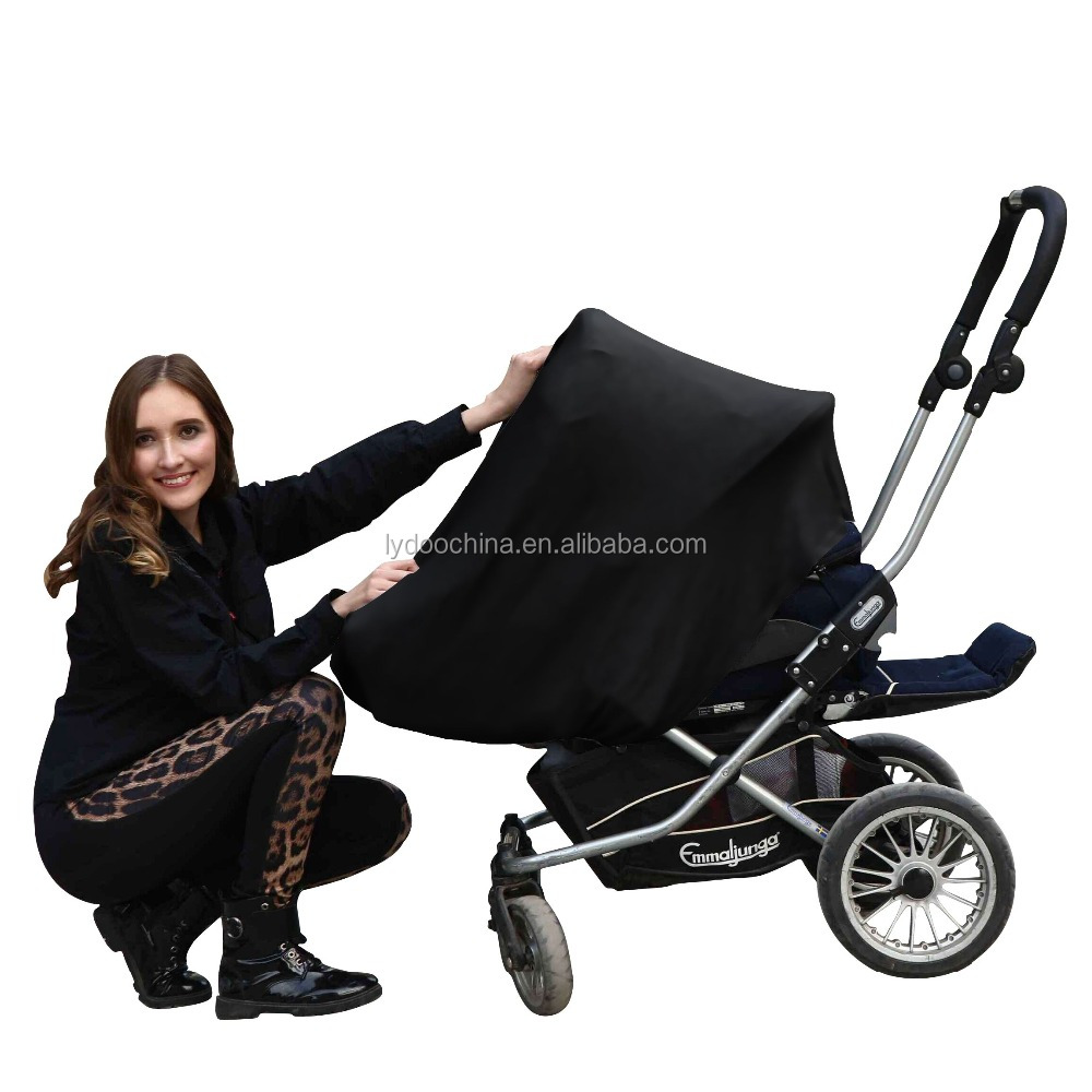 Amazon Hot selling Plain black Baby Car Seat Canopy nursing cover