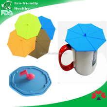 Flower shape factory price silicone coffee mug lid /rubber coffee cup lid