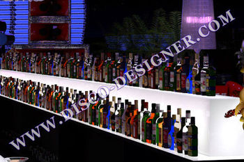 LED Isle Back Bar Liquor Display