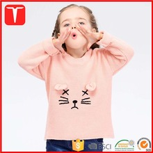 Girl cute cat pattern baby sweater embroidery design