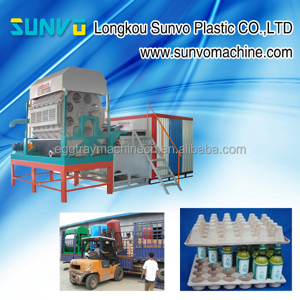 Machines make pulp molded egg tray and fruit tray automatic line
