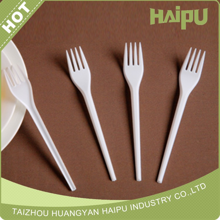 Disposable Plastic White Fork