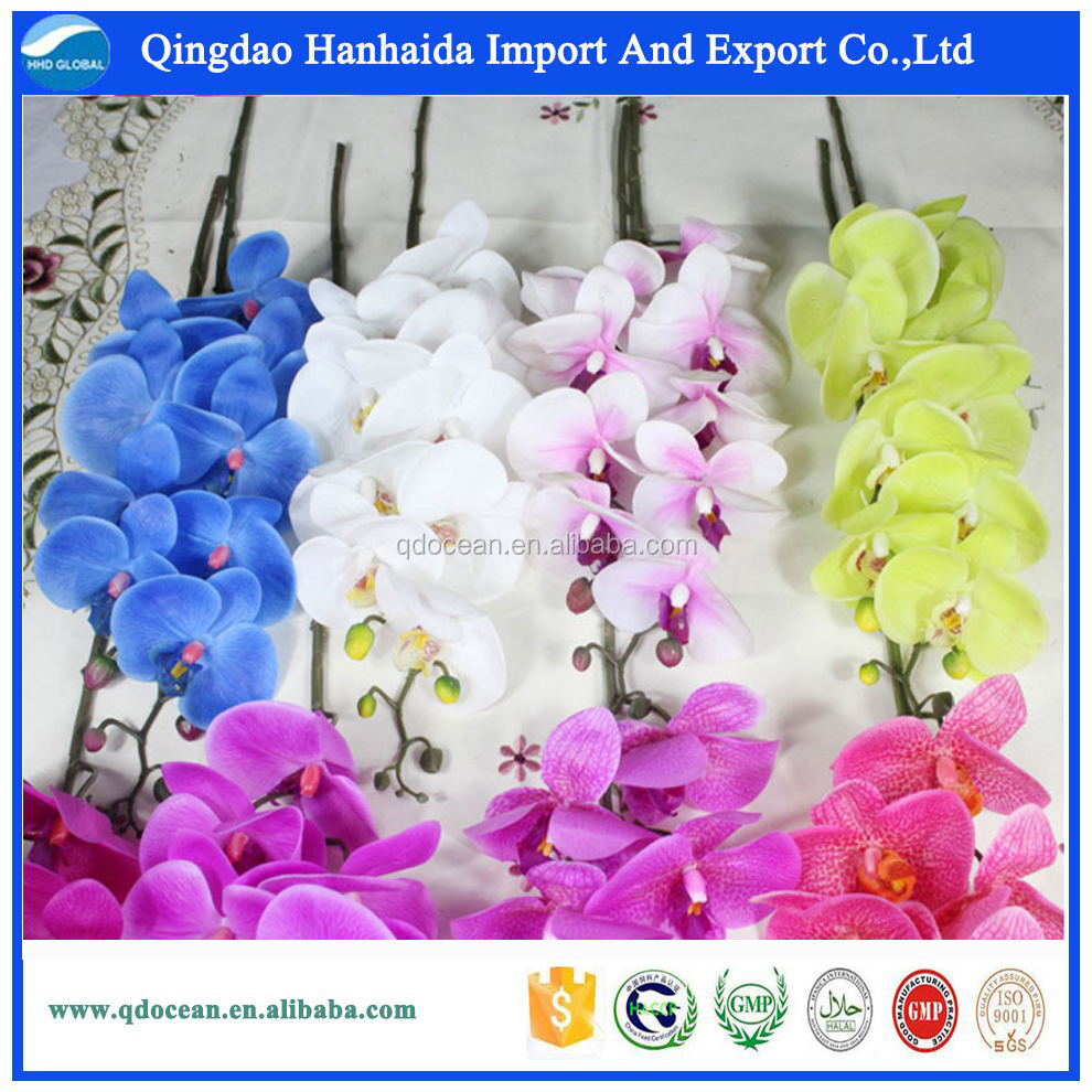 China artificial silk flowers factory direct artificial flowers high quality blue orchid for sale with reasonable price !!