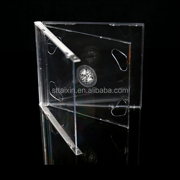 10.4mm single/double clear/color/black tray jewel cute cd case