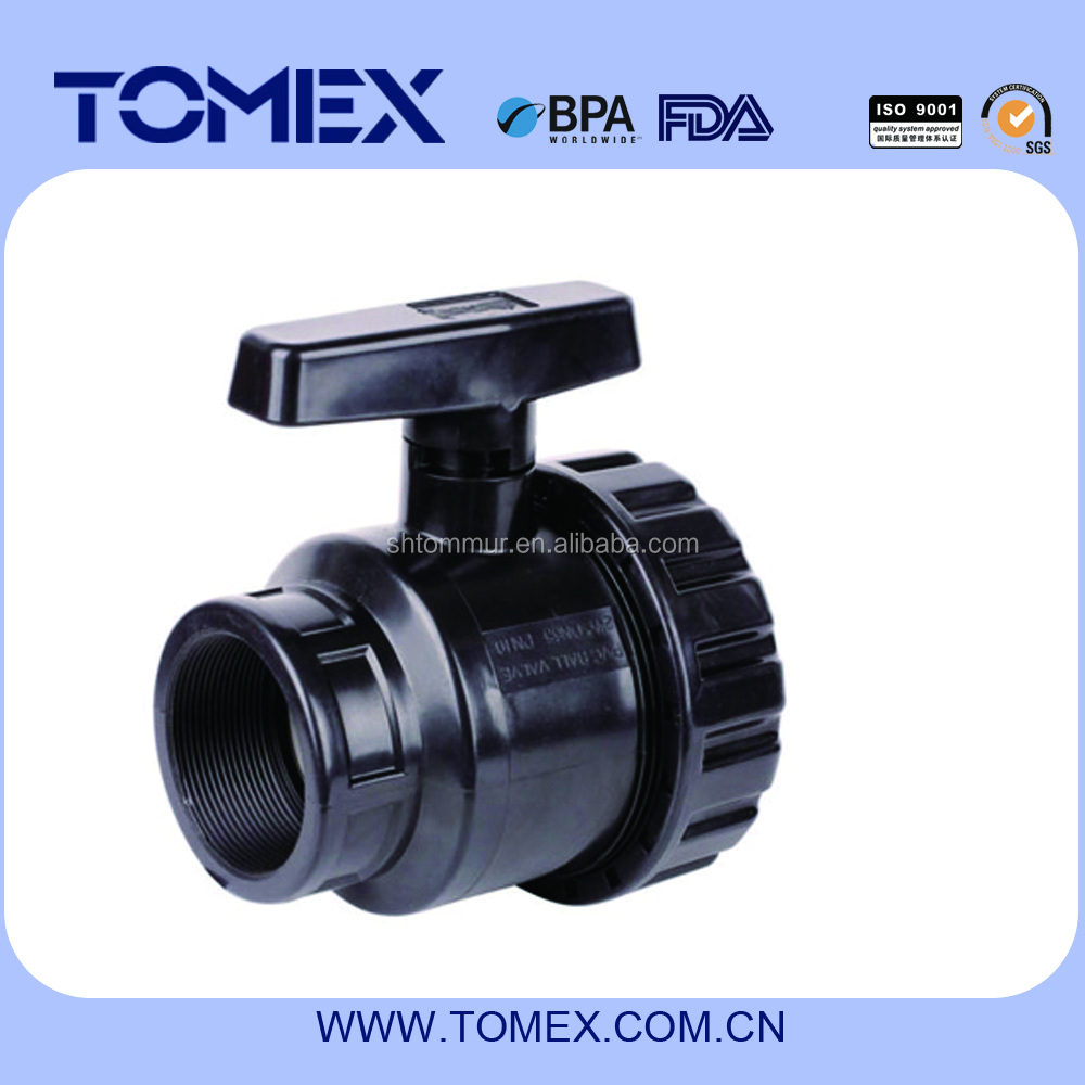 Black color pvc screw ball valve for agriculture irrigation