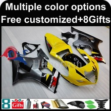 yellow black motorcycle cowl for Suzuki GSX-R1000 2003-2004 03 04 GSXR1000 2003 2004 03-04 ABS Plastic Fairing