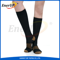 copper lined compression support socks