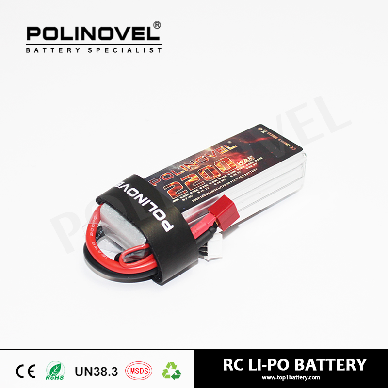 7.4v (2S) 2200mAh 25c RC helicopter battery with XT connector