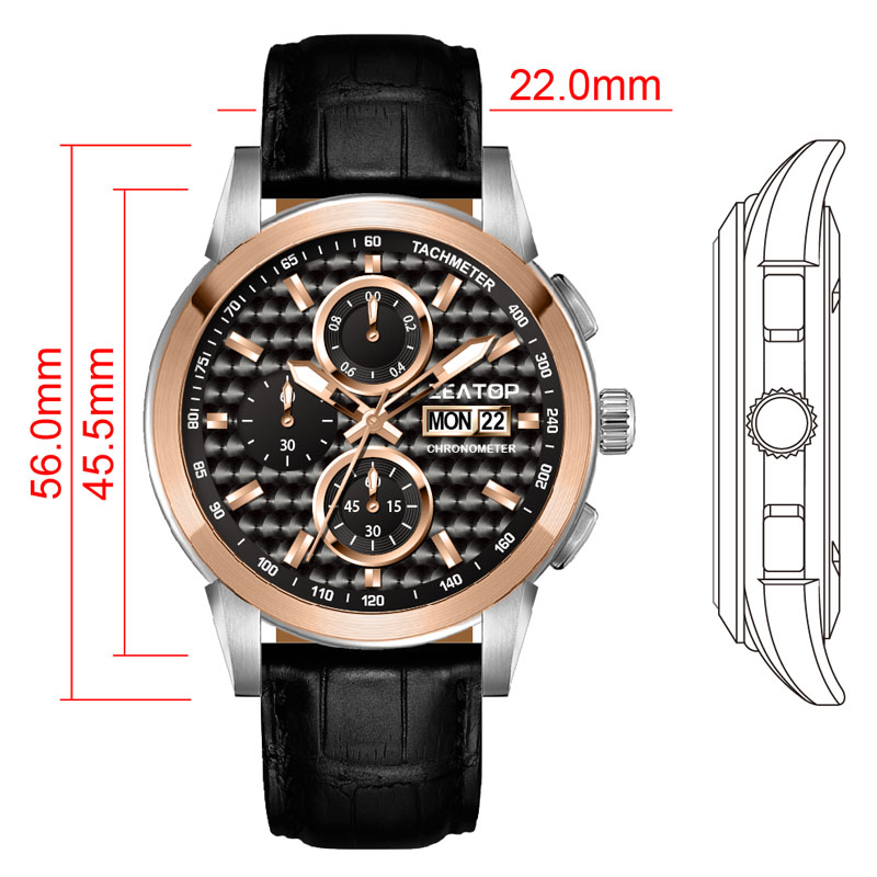 Chronometer Military Designers Men Watches Army