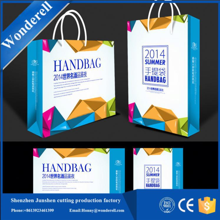hot product cubic paper hole design wine paper packaging hand bag box