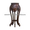 Mahogany Carved China Plant Stand