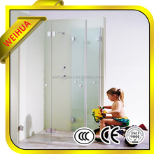 Good quality curved tempered glass shower screen with certification from manufacturer