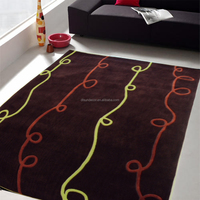 polyester hand tufted carpet yarn and rugs