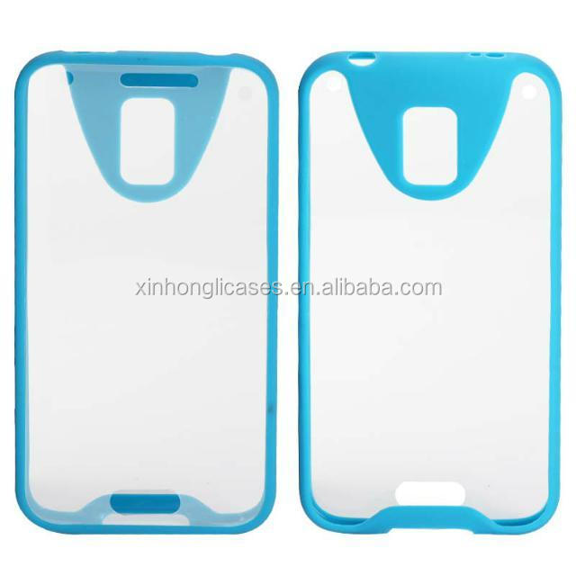 New tpu bumper and pc back bumper case for samsung galaxy s5, case cover for samsung S5