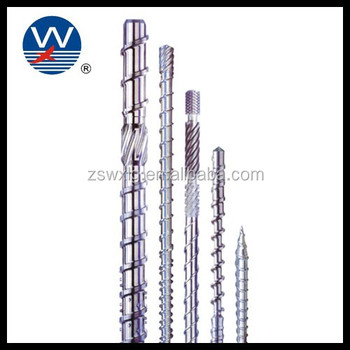 Extruder machine parts single pe screw barrel for extrusion line