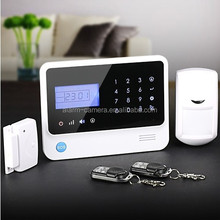 Home security alarm system package with smoke&glass&gas detectors for choice,best price from China factory