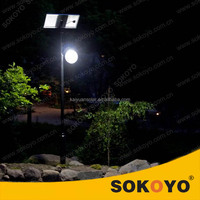 GMC approved elegant 15W solar courtyard LED lamp/solar garden lights/solar park lights